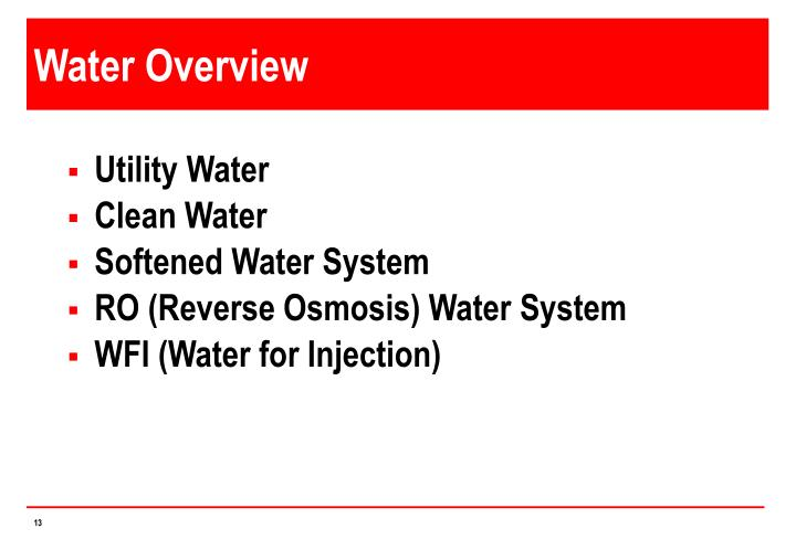 Water Overview