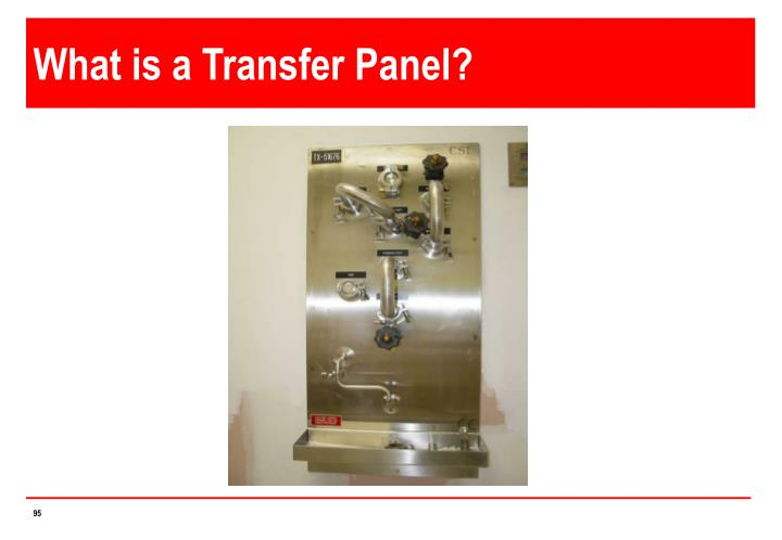 What is a Transfer Panel?