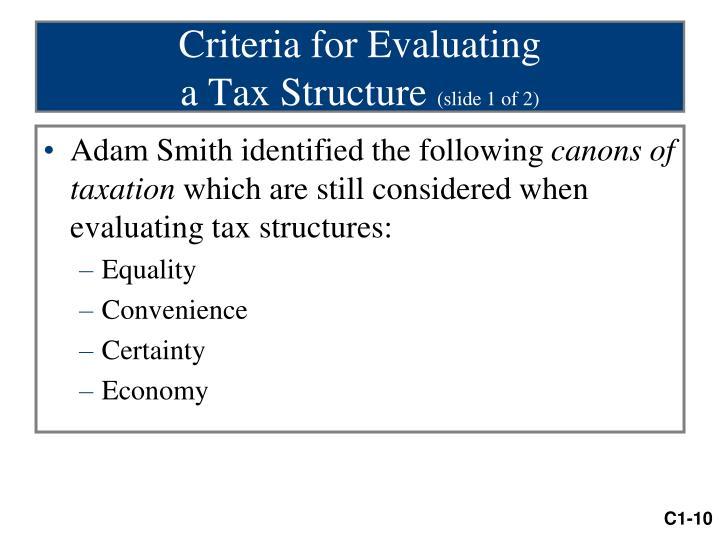 Criteria for Evaluating