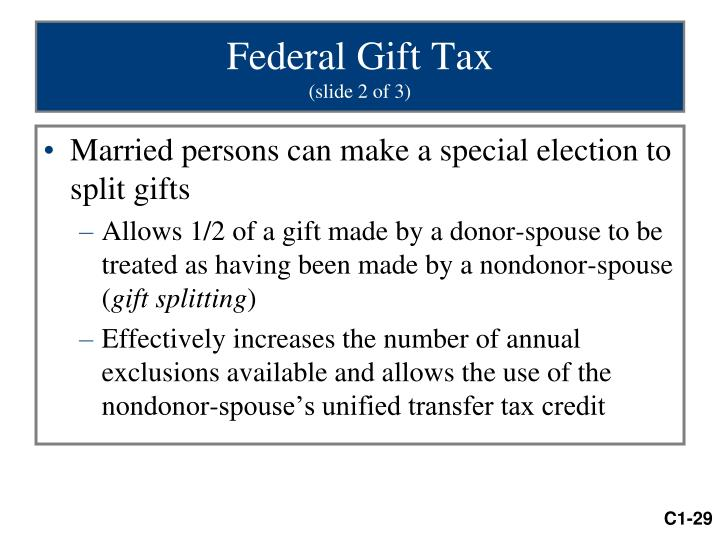 Federal Gift Tax