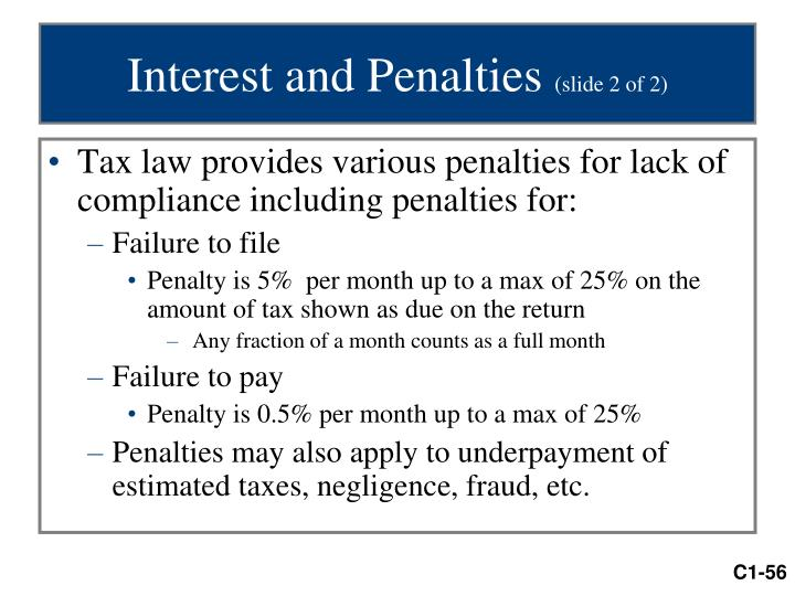 Interest and Penalties
