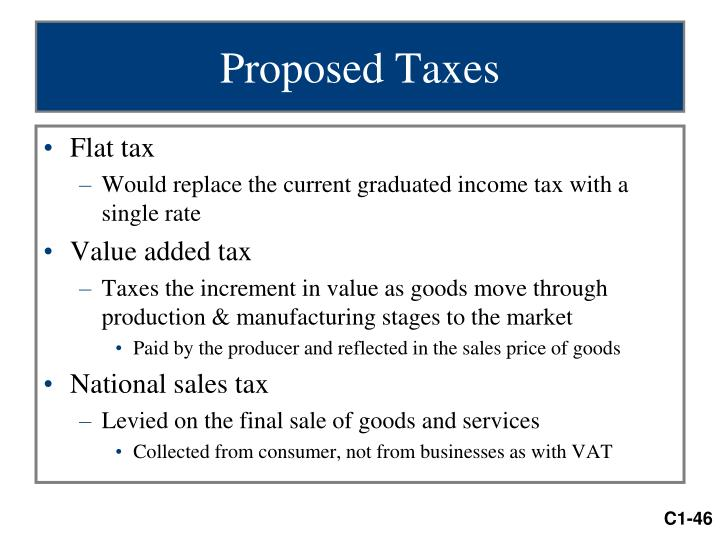 Proposed Taxes