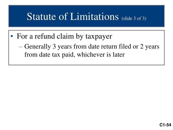 Statute of Limitations