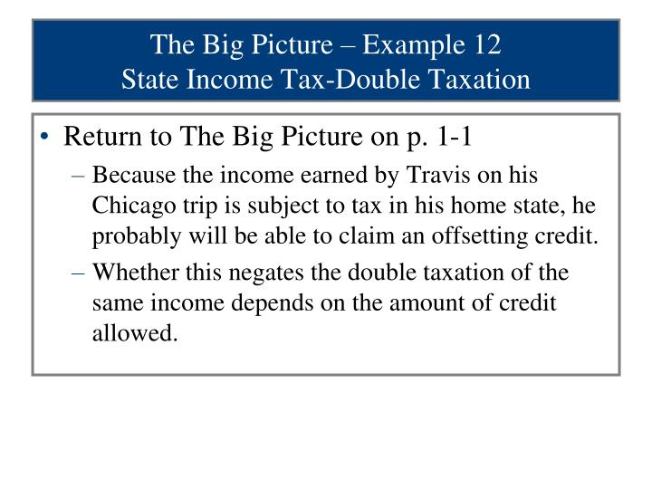 The Big Picture – Example 12