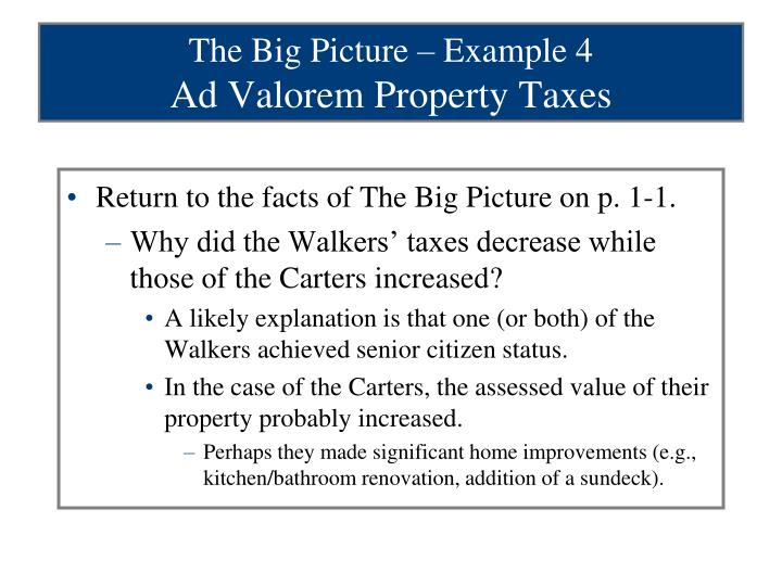 The Big Picture – Example 4