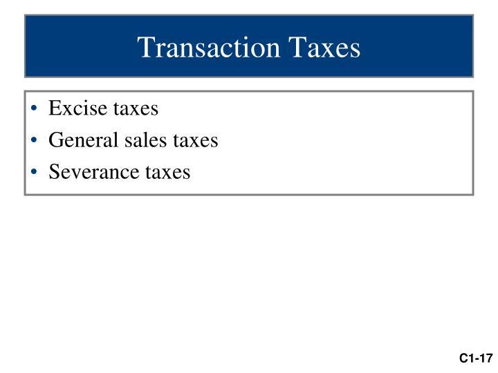Transaction Taxes