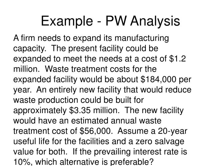Example - PW Analysis