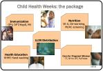 child health weeks the package