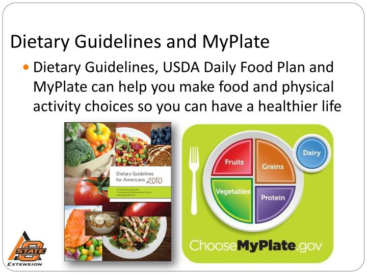 Dietary Guidelines and MyPlate