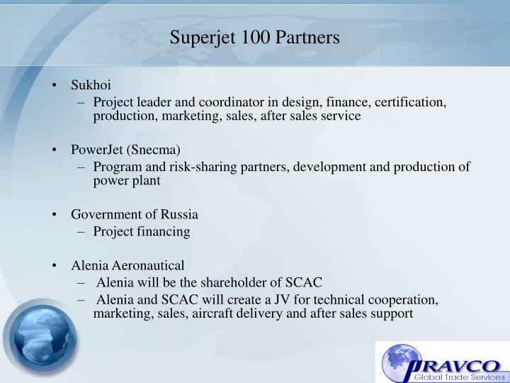 Superjet 100 Partners
