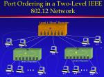 port ordering in a two level ieee 802 12 network