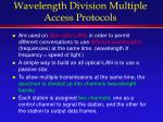 wavelength division multiple access protocols
