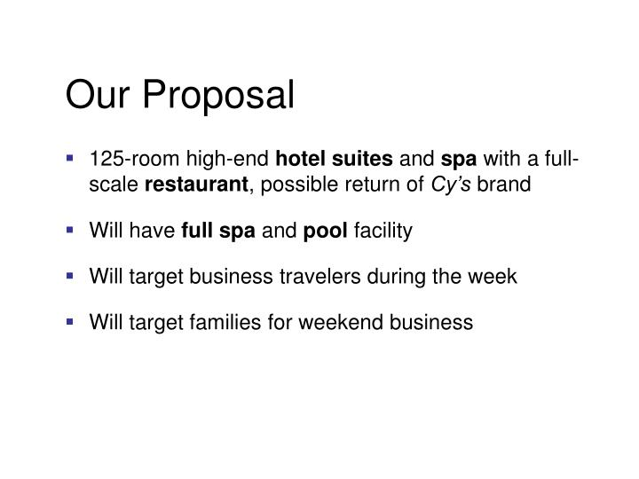 Our Proposal