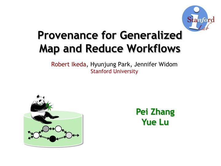 provenance for generalized map and reduce workflows n.