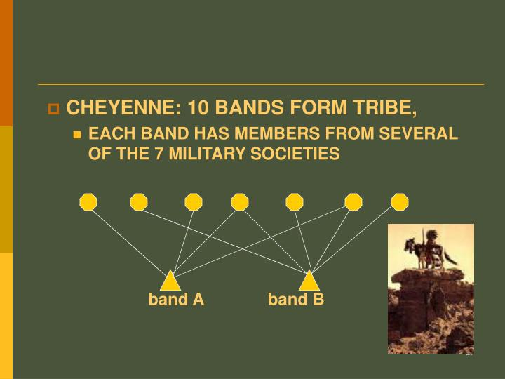 CHEYENNE: 10 BANDS FORM TRIBE,