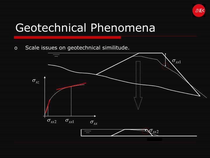 Geotechnical Phenomena