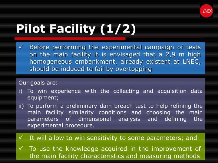 Pilot Facility (1/2)