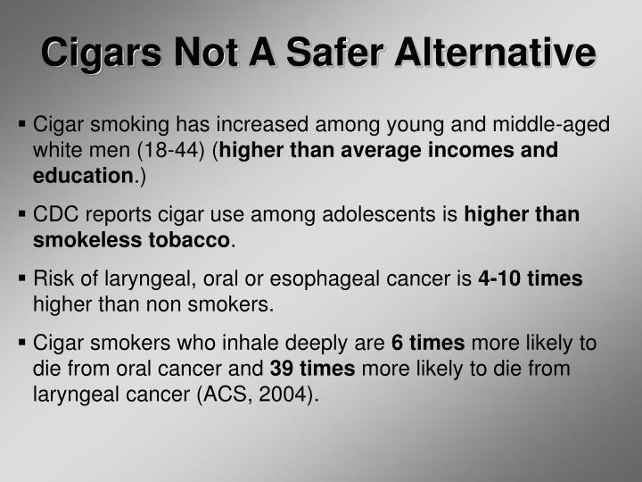 Cigars Not A Safer Alternative