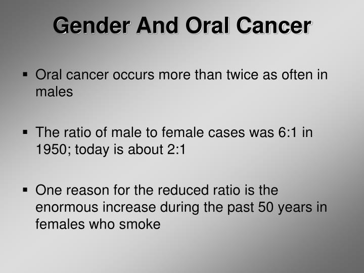 Gender And Oral Cancer