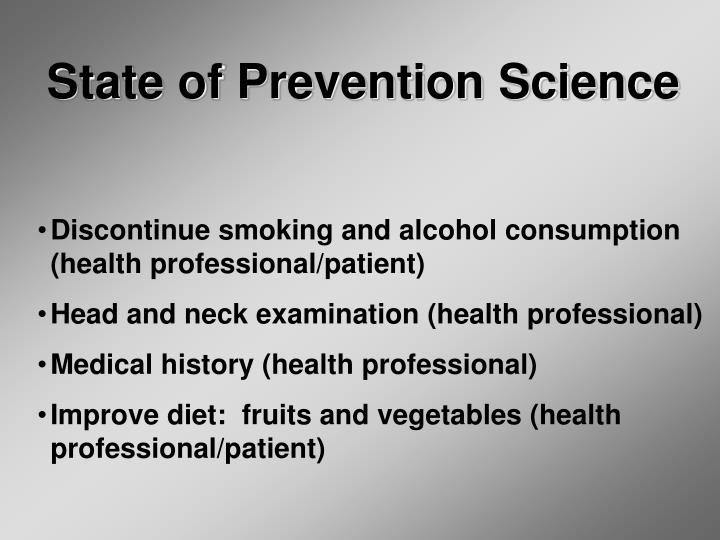 State of Prevention Science