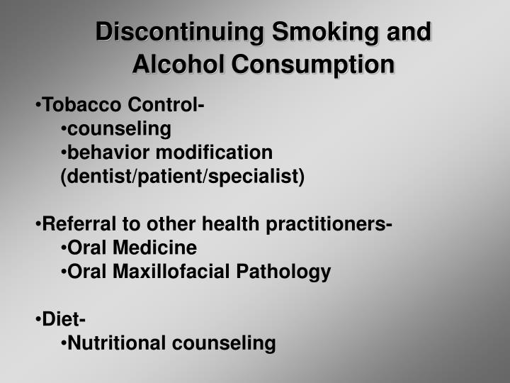 Discontinuing Smoking and