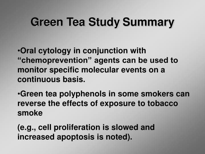 Green Tea Study