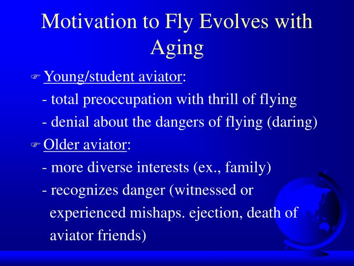 Motivation to Fly Evolves with Aging