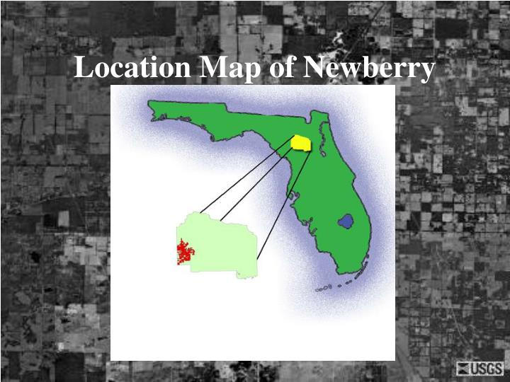Location Map of Newberry