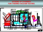 scheme of chamber for thermo vacuum testing