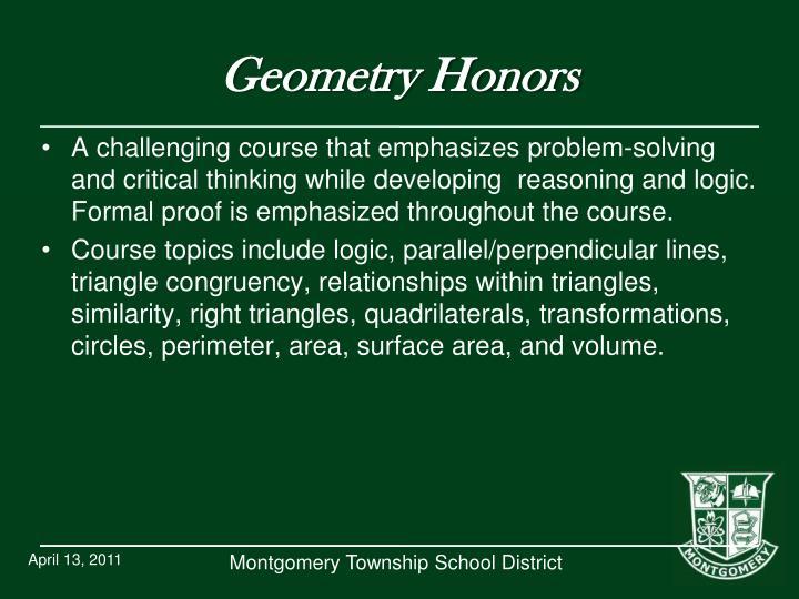 Geometry Honors