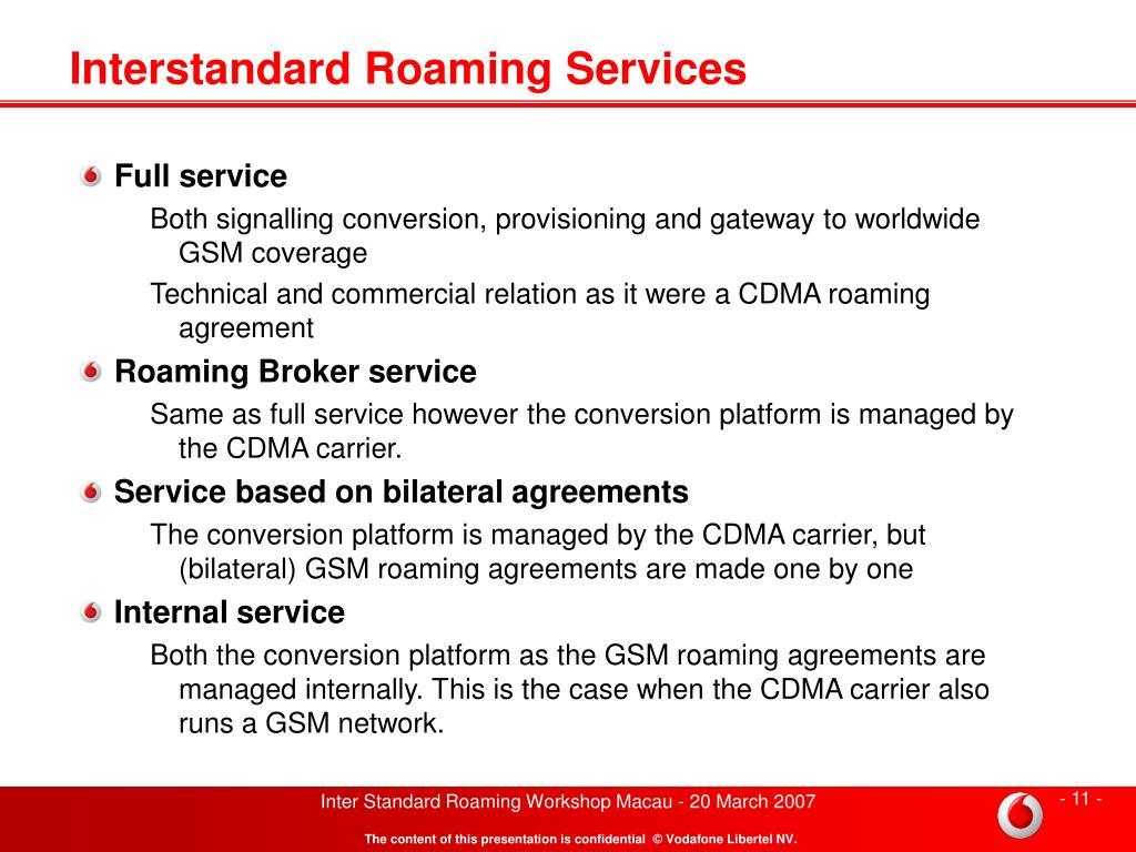 PPT - Inter Standard Roaming GSM Sponsor PowerPoint Presentation