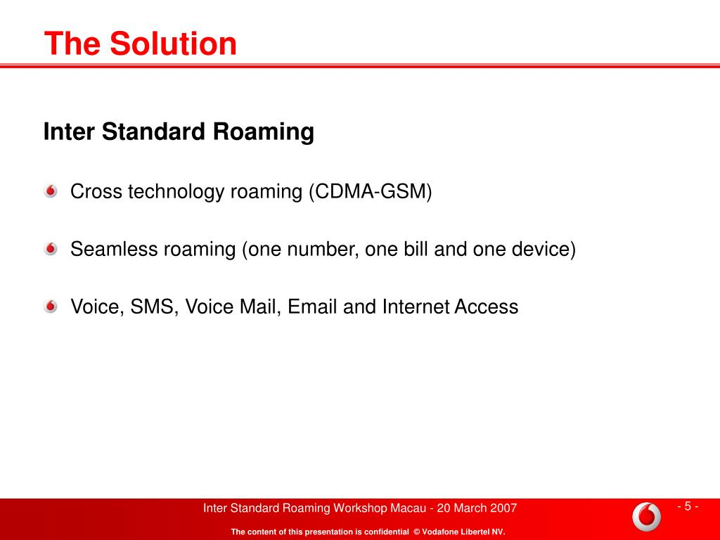 PPT - Inter Standard Roaming GSM Sponsor PowerPoint Presentation