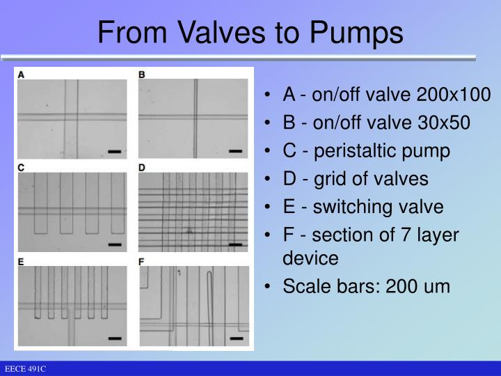 From Valves to Pumps