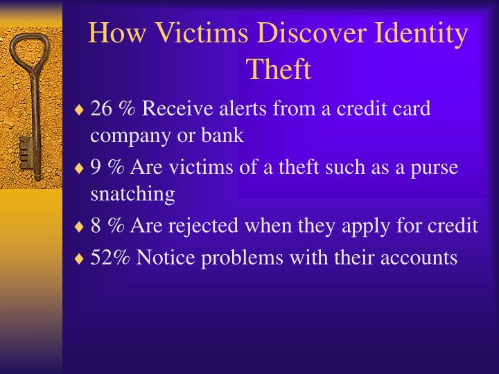 How Victims Discover Identity Theft