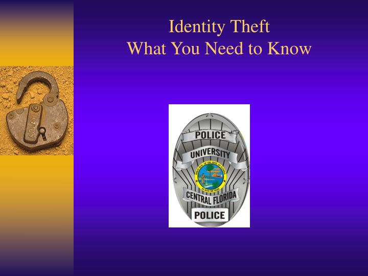 Identity theft what you need to know