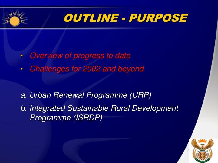 Outline purpose