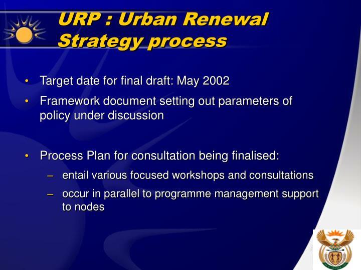 URP : Urban Renewal Strategy process