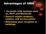 advantages of uma