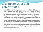 architectural design competitions