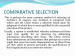 comparative selection