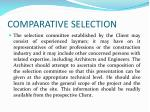 comparative selection3