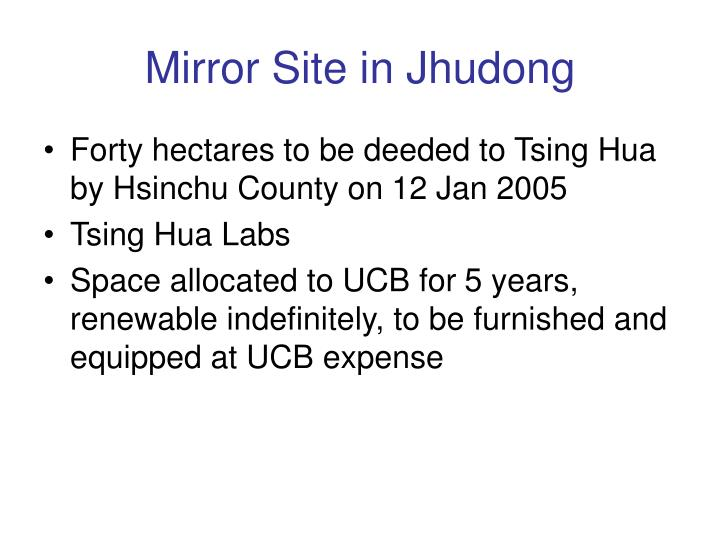 Mirror Site in Jhudong