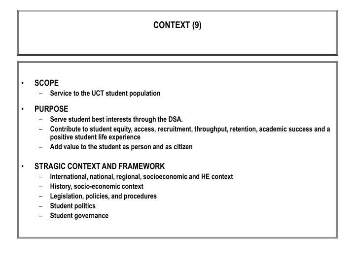 CONTEXT (9)