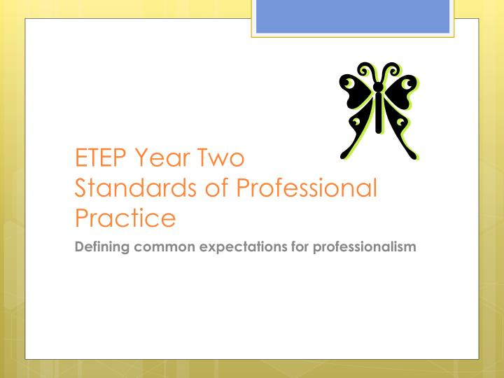 ETEP Year Two