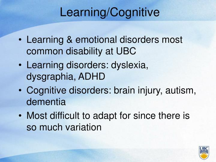 Learning/Cognitive