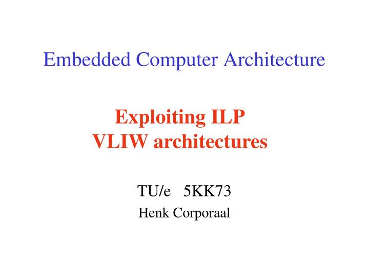embedded computer architecture n.
