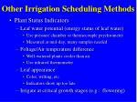 other irrigation scheduling methods1
