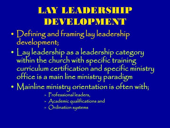 Lay leadership development1