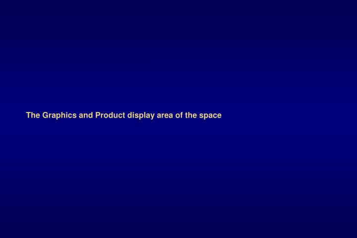 The Graphics and Product display area of the space