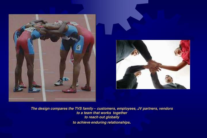 The design compares the TVS family – customers, employees, JV partners, vendors